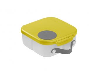 Svačinový box střední- žlutý/šedý