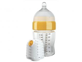 Kojenecká láhev 240 ml, ohřívač a dudlík - Y18B1W 2