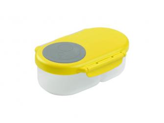 Svačinový box malý- žlutý/šedý