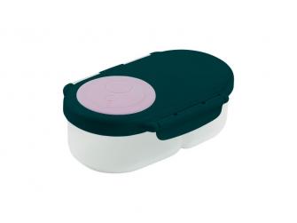 Svačinový box malý - indigo/růžový