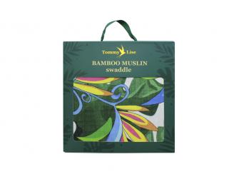 Bambusová mušelínová plena Lush Garden 120x120 cm