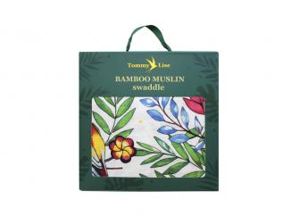 Bambusová mušelínová plena Blooming Day 120x120 cm