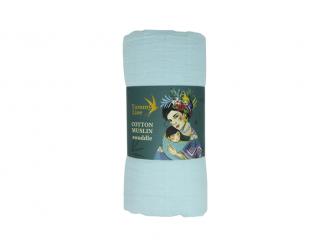 Bavlněná mušelínová plena Dreamy Blue 120x120 cm