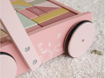 Vozíček s kostkami pink 3