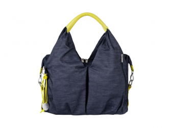 Green Label Neckline Bag denim blue