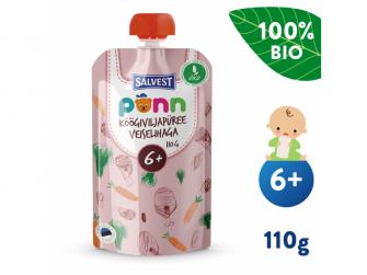 Ponn BIO Hovězí maso se zeleninovým pyré (100 g) 6+ měsíců