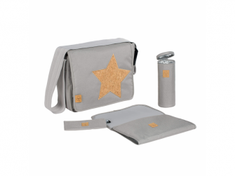 Casual Messenger Bag Cork Star light grey 3