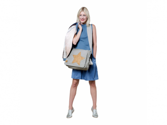 Casual Messenger Bag Cork Star light grey 4