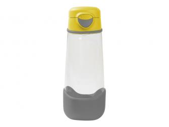 Sport láhev na pití 600 ml - žlutá/šedá