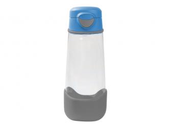 Sport láhev na pití 600 ml - modrá/šedá