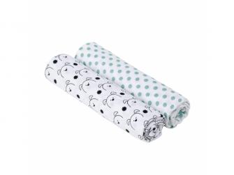 Swaddle Burp blanket 120x120 Little Chums dog 3