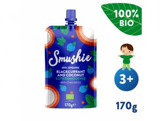 Smushie BIO Ovocné smoothie s čer. rybízem, kokos. mlékem a chia semínky (170 g)
