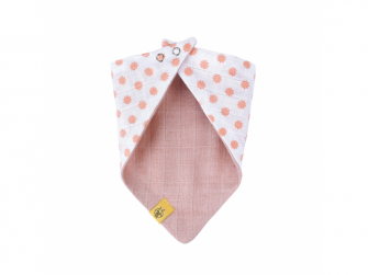 Bandana Muslin Little Chums Stars light pink 3