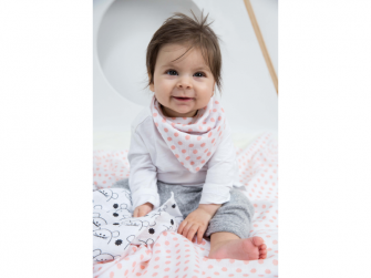 Bandana Muslin Little Chums Stars light pink 5