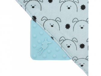 Interlock Bandana with silicone teether Little Chums dog 6