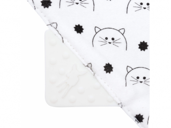 Interlock Bandana with silicone teether Little Chums cat 6