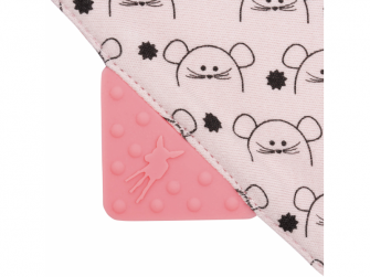 Interlock Bandana with silicone teether Little Chums mouse 5