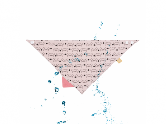 Interlock Bandana with silicone teether Little Chums mouse 3