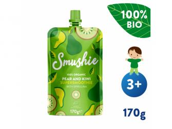 Smushie BIO Ovocné smoothie s hruškou, kiwi a spirulinou (170 g)