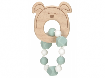 Kousátko Bracelet Wood/Silicone Little Chums dog