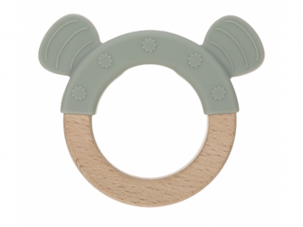 Kousátko Ring Wood/Silicone Little Chums cat