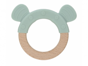 Kousátko Ring Wood/Silicone Little Chums dog