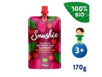 Smushie BIO Ovocné smoothie s červ. řepou, malinami a konopnými semínky (170 g)