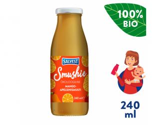Smushie BIO Ovocné smoothie s mangem, ananasem a pomerančovou dužinou (240 ml)