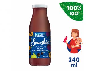 Smushie BIO Ovocné smoothie s černým rybízem a švestkami (240 ml)