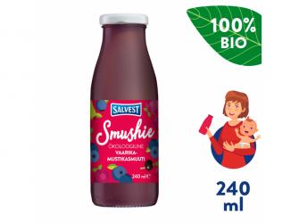 Smushie BIO Ovocné smoothie s borůvkami, malinami a černým rybízem (240 ml)