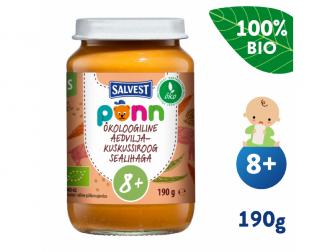 Ponn BIO Vepřové maso s kuskusem a zeleninou (190 g)