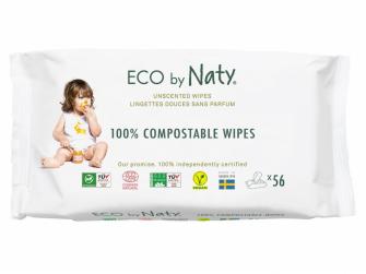 Vlhčené ubrousky Nature Babycare bez vůně - pro citlivou pokožku (56 ks)