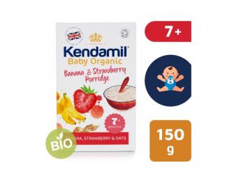 KENDAMIL Organická BIO banánová, jahodová kaše (150g)