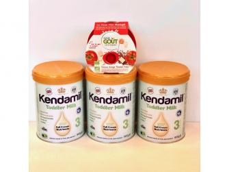 KENDAMIL batolecí mléko 3 (900 g)   NOVÁ RECEPTURA -  balení 3ks + dárek zdarma Good Gout