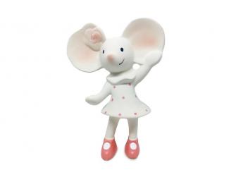 Pískátko / kousátko myška Meiya (100% přírodní kaučuk)-16cm