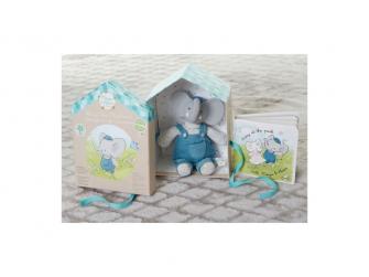 Dárkový set DELUXE knížka + hračka sloník Alvin