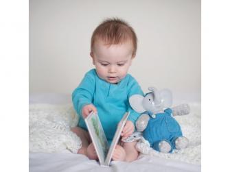 Dárkový set knížka + hračka sloník Alvin 3