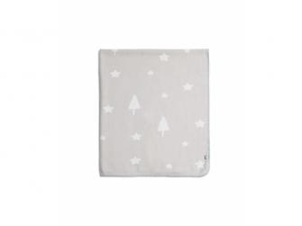 Tkaná deka hvězdy šedá