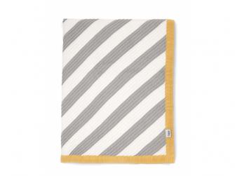 Pletená deka pruhy diagonální