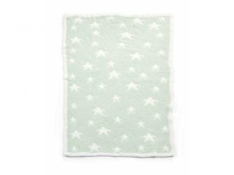 Pletená deka žinylka zelená 3