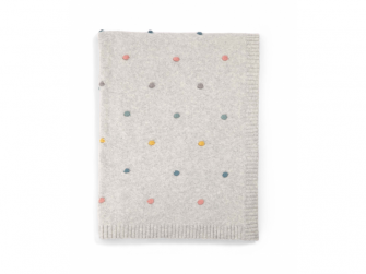 Pletená deka puntíky