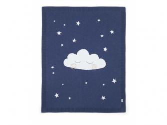 Pletená deka noční obloha modrá 2