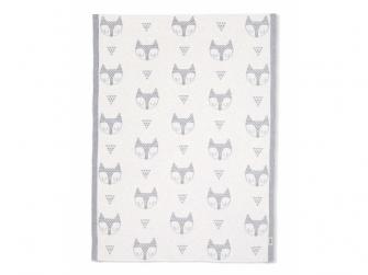 Pletená deka Lišky šedá 2