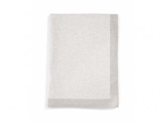 Pletená deka s kašmírem šedá