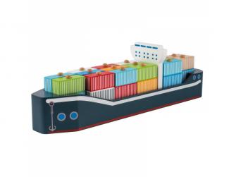 Dřevěná kontajnerová loď 34ks 24m+ 3