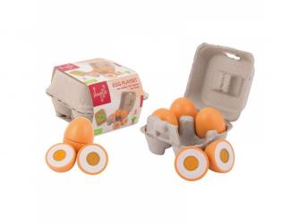Dřevěný vaječný set 4ks 24m