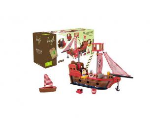 Dřevěná pirátská loď 36m+