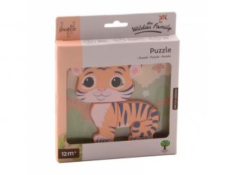 The Wildies Family dřevěné mini puzzle Tiger 12m+
