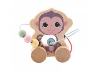 the Wildies Family dřevěná hračka s labyrintem Monkey 12m+