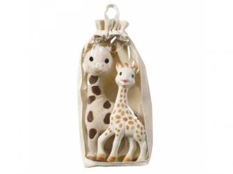 Set plyšová žirafa Sophie + žirafa Sophie